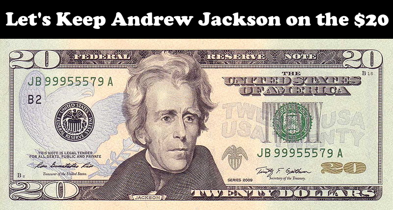 KEEP JACKSON ON THE $20