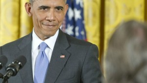 Obama smirking in anger